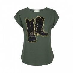 Sofie Schnoor Nikoline T-Shirt - Dusty Green