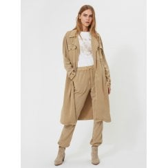 Sofie Schnoor Shirt Trench Dress - Camel