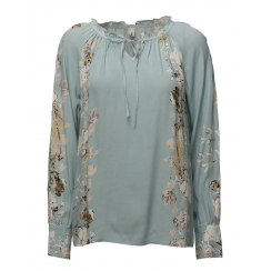 SoyaConcept Blouse with Floral Print - Cloud Blue