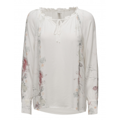 SoyaConcept Blouse with Floral Print - White