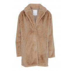 SoyaConcept Faux Fur Jacket - Sand