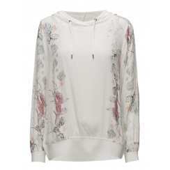 SoyaConcept Hoodie in Floral Print - White