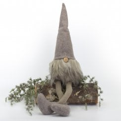 Speedtsberg Kaj Elf with with brown Beard - Felt Grey/brown