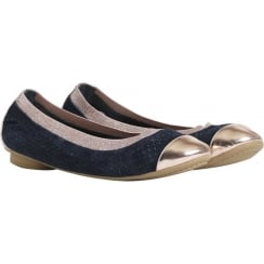 Stylesnob Ori Ballerina - Blue with Rose Gold