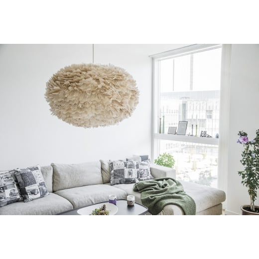 Umage Lighting EOS XL Light Brown Feather Lampshade - D75cm