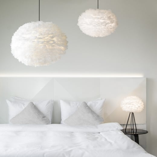Umage Lighting EOS XL White Feather Lampshade - D75CM