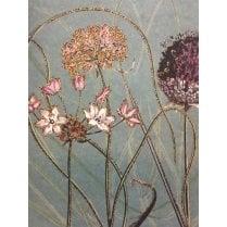 Vanilla Fly Allium Greeting Card