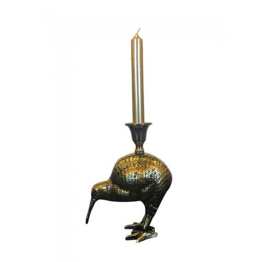 Vanilla Fly Antique Brass Candle Holder - Kiwi