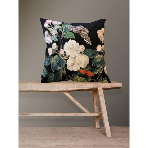 Vanilla Fly Apple Blossom Black Cushion 50x50 (Including Deluxe Filling)