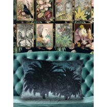 Vanilla Fly Big Blue Palm Tree Cushion 50x70cm (Including Deluxe Filling)