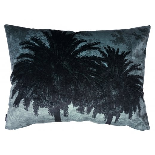 Vanilla Fly Big Blue Palm Tree Cushion