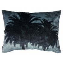 Vanilla Fly Big Blue Palm Tree Cushion