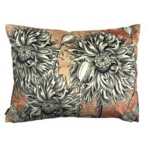Vanilla Fly Big Coral Poppy Cushion