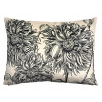Vanilla Fly Big White Poppy Cushion