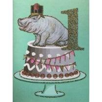 Vanilla Fly Birthday Card 1 Year Old