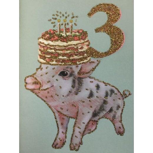 Vanilla Fly Birthday Card 3 Years Old