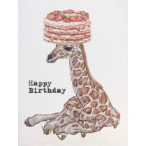 Vanilla Fly Birthday Card Giraffe