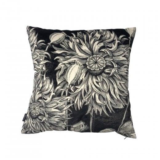Vanilla Fly Black Poppy Cushion