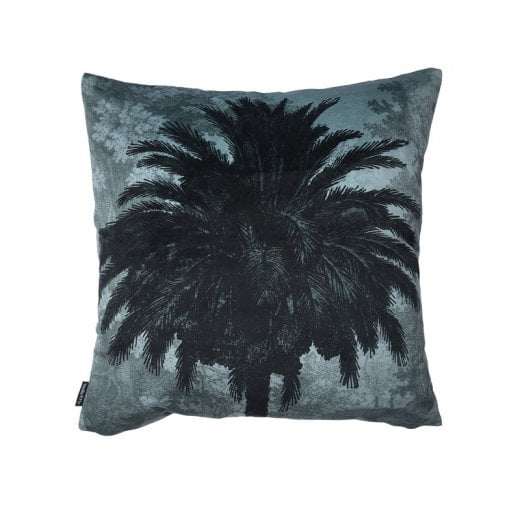 Vanilla Fly Blue Palm Tree Cushion 50x50cm (Including Deluxe Filling)