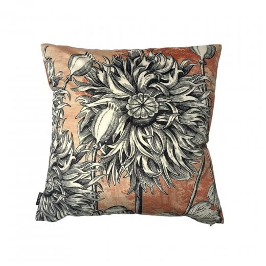 Vanilla Fly Coral Poppy Cushion 50x50cm (Including Deluxe Filling)