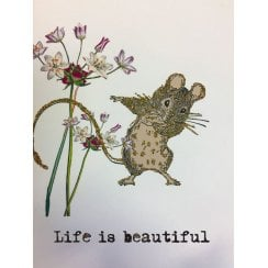 Vanilla Fly Dancing Mouse Greeting Card