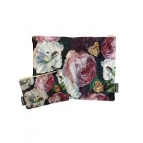 Vanilla Fly Make up Bag & Pouch with Flowers and Insects