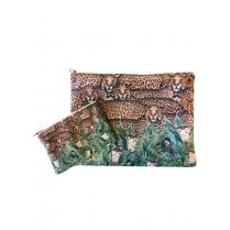 Vanilla Fly Make up Bag & Pouch with Leopards and Jungle