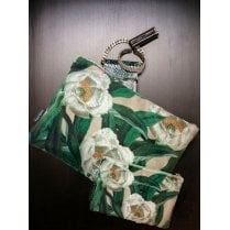 Vanilla Fly Make up Bag & Pouch with Long Stem Flowers