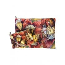 Vanilla Fly Make up Bag & Pouch with Monkeys & Flowers - Multi Colour