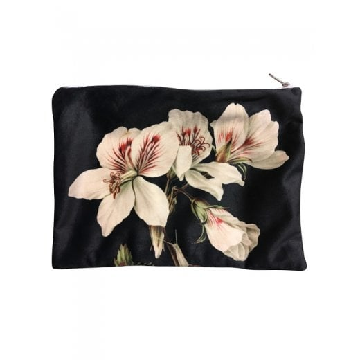 Vanilla Fly Make up Bag with Pink Floral Pattern