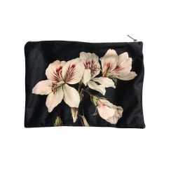 Vanilla Fly Makeup Bag with Pink Floral Pattern