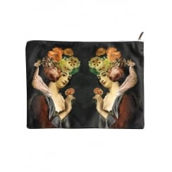Vanilla Fly Makeup Bag with Two Ladies