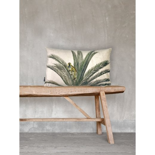 Vanilla Fly Monkey Palm Velvet Cushion 30 x 50cm (Including Deluxe Filling)