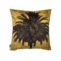 Vanilla Fly Mustard Palm Tree Cushion