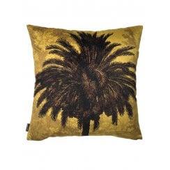 Vanilla Fly Mustard Palm Tree Cushion