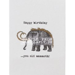 Vanilla Fly Old Mammoth Greeting Card