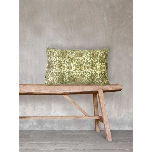 Vanilla Fly Pretty Green Velvet Cushion 30x50cm (Including Deluxe Filling)