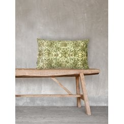 Vanilla Fly Pretty Green Velvet Cushion 30x50cm (Including Deluxe Filling)