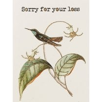 Vanilla Fly Sorry For Your Loss Card