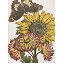 Vanilla Fly Sunflower Greeting Card