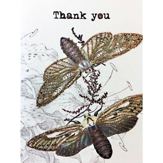 Vanilla Fly Thank you Greeting Card