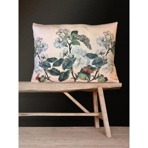 Vanilla Fly Velvet Cushion - Apple Blossom Pink 50x70cm (Including Deluxe Filling)