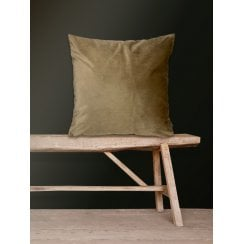 Vanilla Fly Velvet Cushion-Bark 50 x 50cm (Including Deluxe Filling)