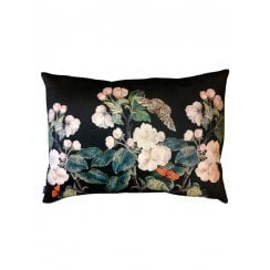Vanilla Fly Velvet Cushion - Black Appleblossom
