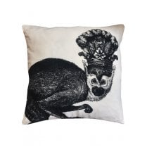 Vanilla Fly Velvet Cushion - Black Monkey