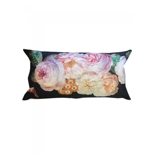 Vanilla Fly Velvet Cushion - Black Rose