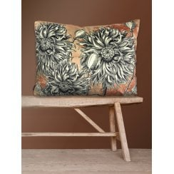 Vanilla Fly Velvet Cushion - Coral Blossom 50x70cm (Including Deluxe Filling)
