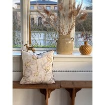 Vanilla Fly Velvet Cushion-Coral Rose 50 x 50cm (including Deluxe Filling)