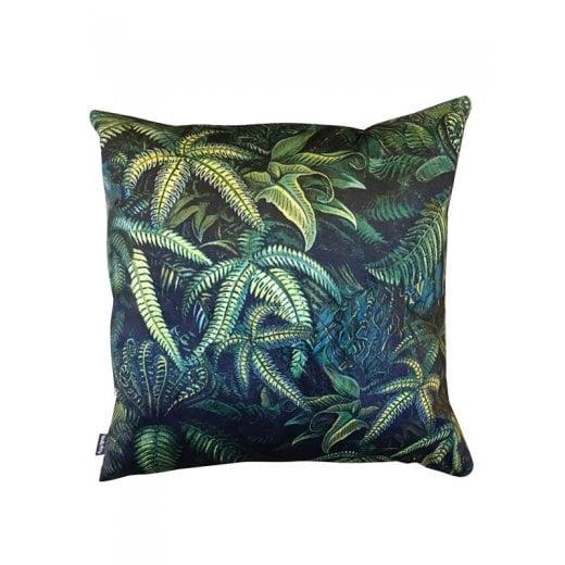 Vanilla Fly Velvet Cushion - Green Fern