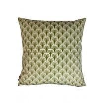 Vanilla Fly Velvet Cushion Green Mix 50 x 50cm(Including Deluxe Filling)